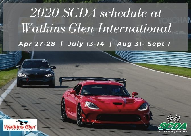 For 2020, the Sports Car Driving Association Adds a Third Date at Watkins Glen International, Plans to use Long and Short Course in April Event.
